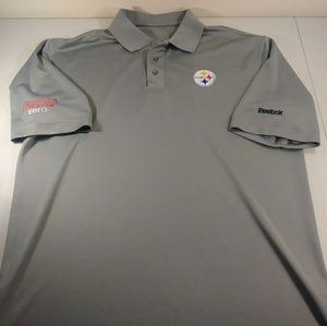 Reebok Pittsburgh Steelers Coca Cola Polo Shirt